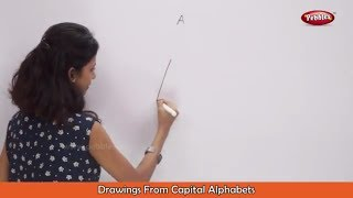 Drawing From Capital Alphabets A to Z | How to Draw Using Alphabets | Fun with Alphabets | Drawing