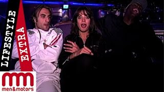 Danny Dichio and Sol Campbell talk to Jenny Powell in an Essex Nightclub