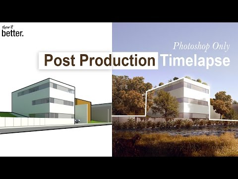 Post Production Exterior image Architectural Visualisation Photoshop only