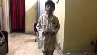 Arav's Poem recited on Children's Day function