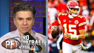 The chiefs and patrick mahomes both want a new extension done, but neither side is in rush to sign what will likely be record-setting deal. #nbcsports #p...