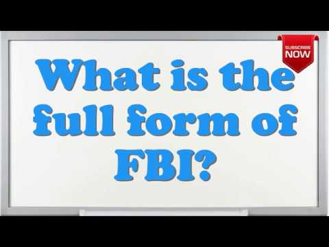 What is the full form of FBI? - YouTube