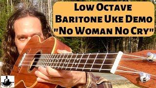 baritone uke demo: low octave tuning (-no woman, no cry-)