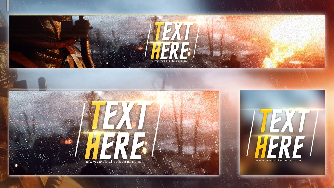 BATTLEFIELD 1 | +PSD TEMPLATE | FREE YOUTUBE BANNER | FREE *2016* - YouTube