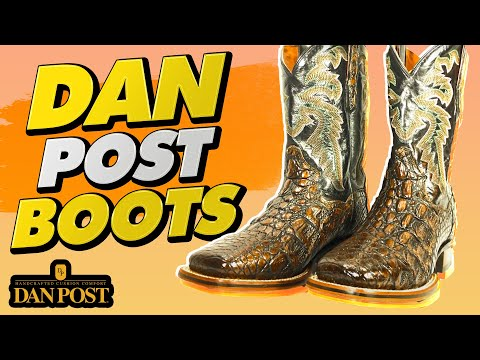 ee0c38e9220 Dan Post Boots Handcrafted Cushion Comfort - YouTube