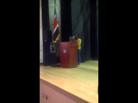 Singing of United States and South Sudan national anthem