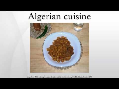 Algerian cuisine youtube for Algerian cuisine