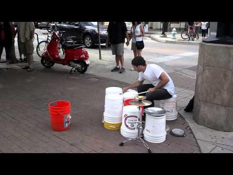 Bucket drums on pearl street