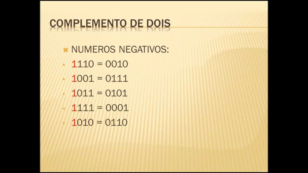 NUMEROS BINRIOS  COMPLEMENTO DE DOIS  YouTube