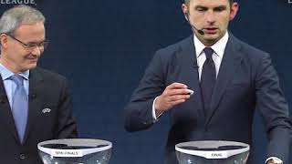 And we go live to the UEFA Champions League draw