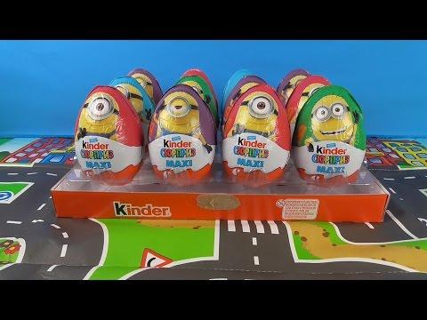12 Kinder Surprise Eggs MAXI MINIONS Despicable Me