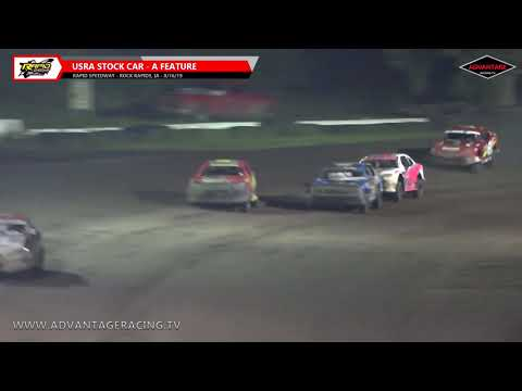Stock Car Feature - Rapid Speedway - 8/16/19