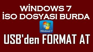 Windows 7 İSO Format Atma