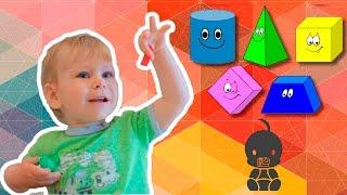 Пазлы для детей. Развивающие игры. Собираем пазлы с детьми, учим геометрические фигуры