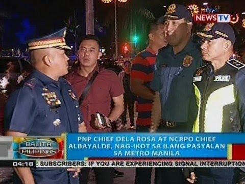BP: PNP Chief Dela Rosa at NCRPO Chief Albayalde, nag-ikot sa ilang pasyalan sa Metro Manila