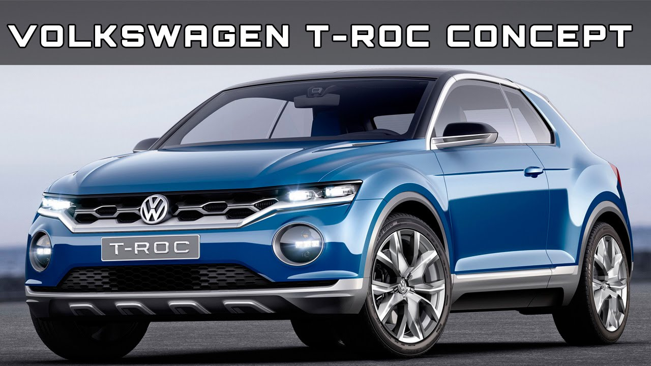 volkswagen t roc concept review rendered price specs release date youtube. Black Bedroom Furniture Sets. Home Design Ideas