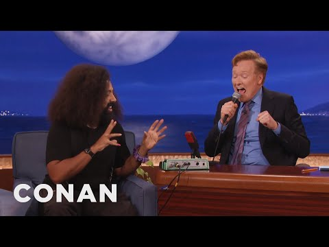 Reggie Watts Lets Conan Play With His Looping Pedal  - CONAN on TBS