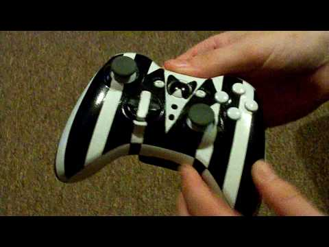 Custom painted xbox 360 controller.. tuxedo design - YouTube