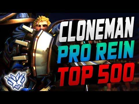 CLONEMAN INSANE REINHARDT! PRO TANK! [ OVERWATCH SEASON 8 TOP 500 ]