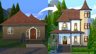 I Tried To Turn A Starter Home Into A Mini Mansion In The Sims 4