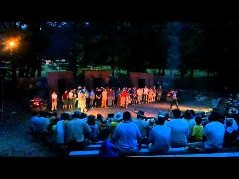 Camp Tuckahoe Staff singing Scout Vespers