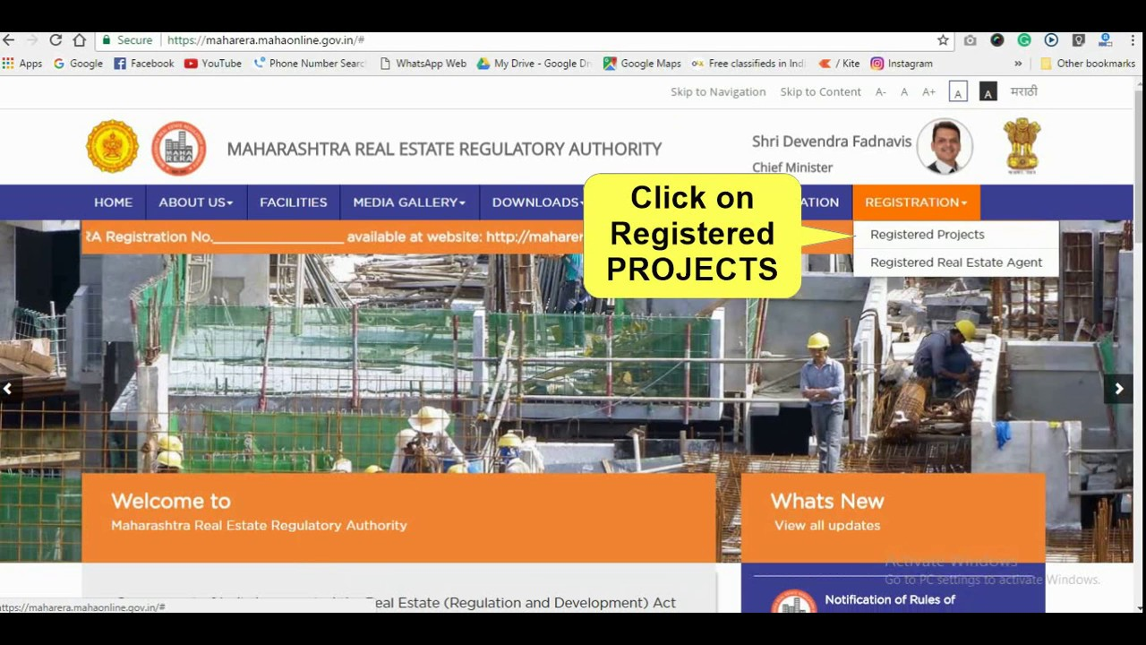 Log in to your account sign up as inidual sign up as builder agent - How To Check Registered Projects On Maharera Website