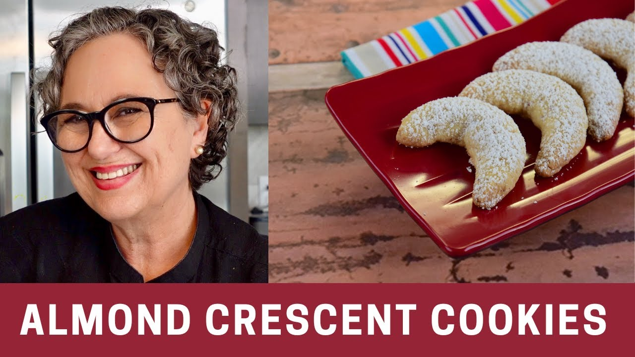 Almond Crescent Cookies -- The Frugal Chef - YouTube