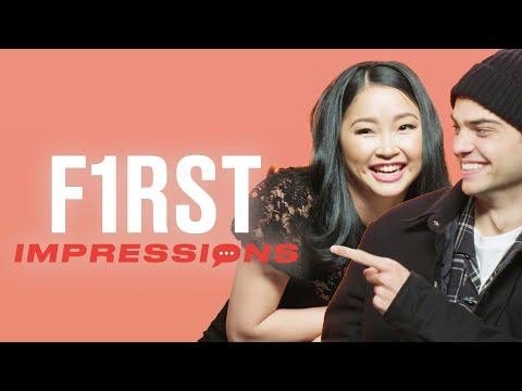 Noah Centineo Romantically Sings To Lana Condor | First Impressions | Tyla