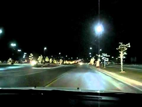 Driving to Odawa Casino in Petoskey at night