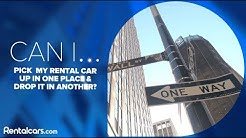 Can I pick up my car in one place and drop it in another? | Rentalcars.com
