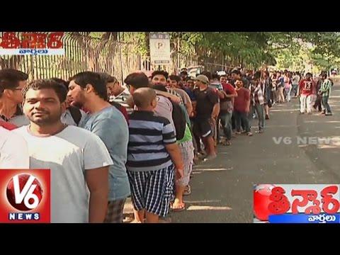 Baahubali 2 Fever   Huge Crowd At Prasads Imax For Movie Tickets   Teenmaar News