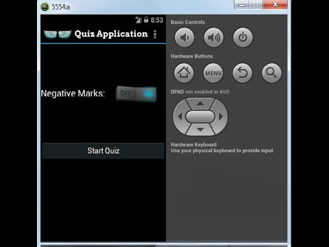 Android 4 4 Tutorials 20 How to create quiz application by Anant Shah