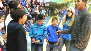 Watch What Happens When 1 Student Starts Singing at Little Wound School