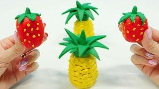 Play-Doh oyun hamuru ile ananas ve çilek yapalım