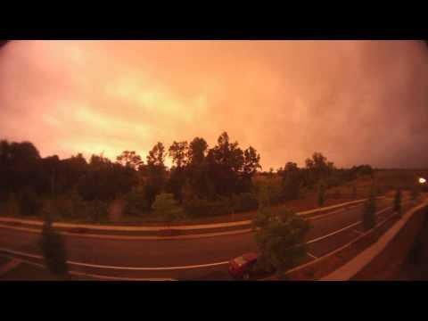 Brilliant Orange Storm Timelapse
