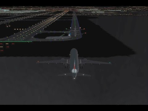 FS2004 - SFO Near Taxiway Collision (Air Canada Flight 759)