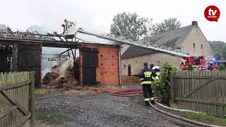 Pożar stodoły w Brzóstkowie [www.jarocinska.pl]