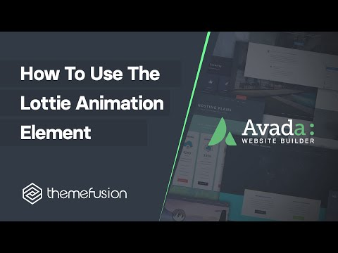 How To Use The Lottie Animation Element Video