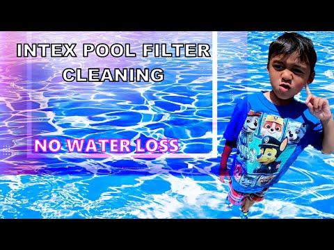INTEX POOL FILTER CLEANING | Intex Swim Center Family Pool