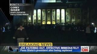 Penn State Kid goes wild after Joe Paterno is fired over child sex abuse scandal