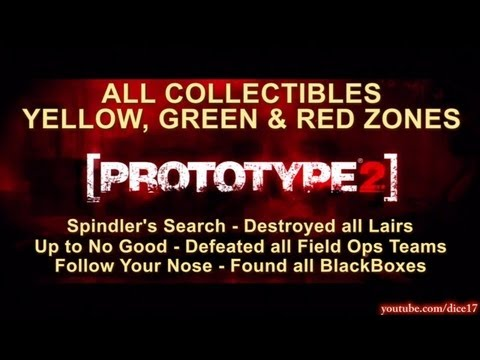 Prototype 2: All Collectibles Locations Map - BlackBo, Field Ops, and on
