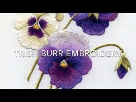 Embroidery:  Long & Short stitch shading part one by Trish Burr