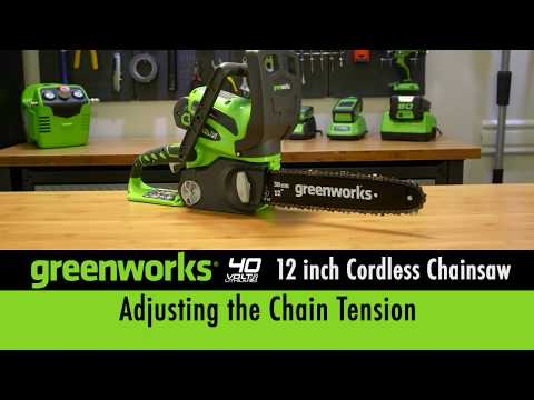 40 Volt 12 Inch Chainsaw - Adjusting The Chain Tension
