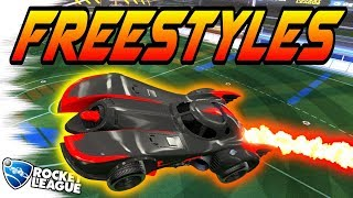 Rocket League Goals: 89 BATMOBILE FREESTYLES, DRIBBLES, & FAKES! New DLC Ceiling Shots! (Gameplay)