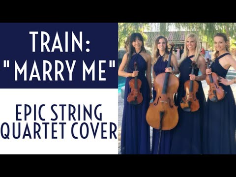 "Train: ""Marry Me"" Epic String Quartet Cover! (Sheet Music)"