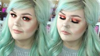 Red Metallic Smokey Eye Feat NYX Cosmetics | Hooded Eyes