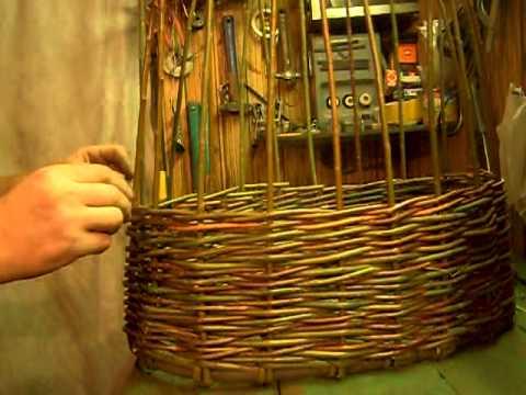 Плетение корзины. Урок 2 - YouTube
