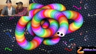 SLITHER.IO WORLD RECORD SNAKE!!