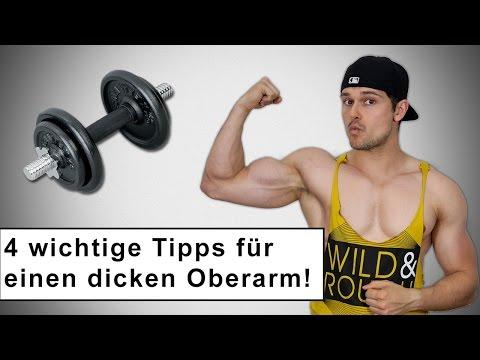 4 Tipps für dicke und starke Oberarme 💪