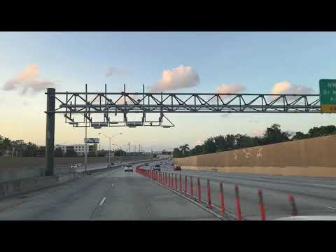 I95 road from Downtown Miami to Hallandale Florida after Hurricane Irma 2017